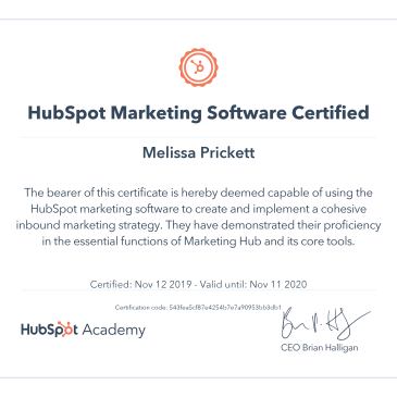 HubSpot Marketing Software Certificate